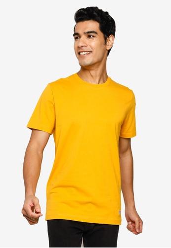 Selected Homme yellow Travis Crew Neck Tee 2DC04AABC1C4D9GS_1