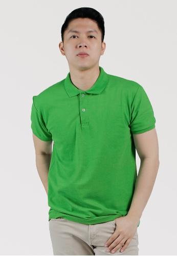 CROWN green Men's Polo Shirt 1C9ADAAF6EF0CCGS_1