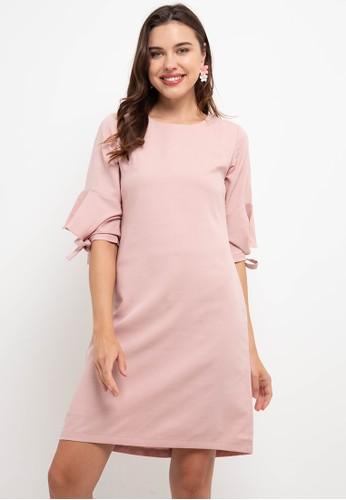 WHITEMODE pink Gaetana Dresses FD3E4AA216CA53GS_1
