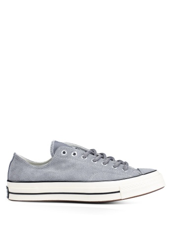 435c5634ca95a4 Converse grey Chuck Taylor All Star 70 Base Camp Suede Ox Sneakers  B8E48SH727D189GS 1
