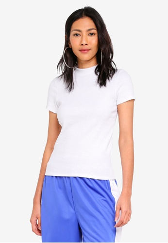 Factorie white Short Sleeve Ribbed Tshirt 0C985AA5AE7ADBGS_1