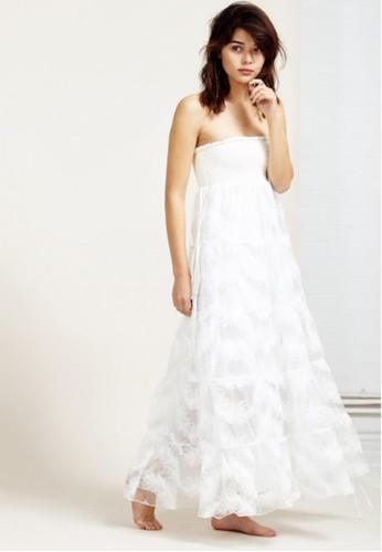 蕾絲刺繡平口洋裝, 服飾, 晚宴esprit tote bag禮服