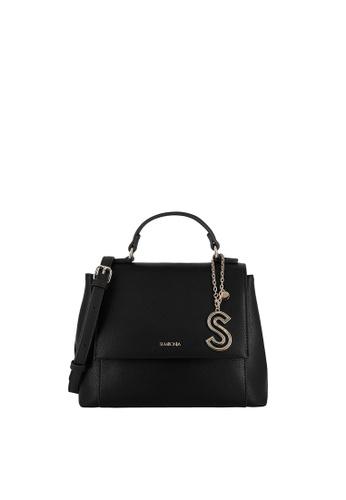 SEMBONIA black Top-Handle Satchel Bag 48C38ACCC7BA55GS_1