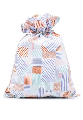 Compania Fantastica multi Patchwork Plaid Fabric Backpack 033CFACABD0586GS_1