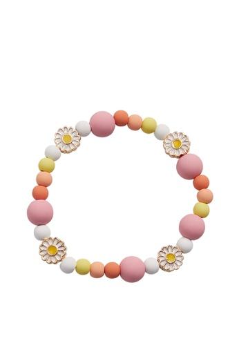 MANGO KIDS pink Mixed Bead Bracelet DA220KCBA5C62AGS_1