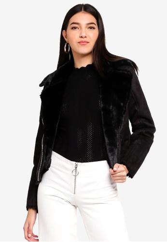 e7d7003d3 Black Shearling Biker Jacket