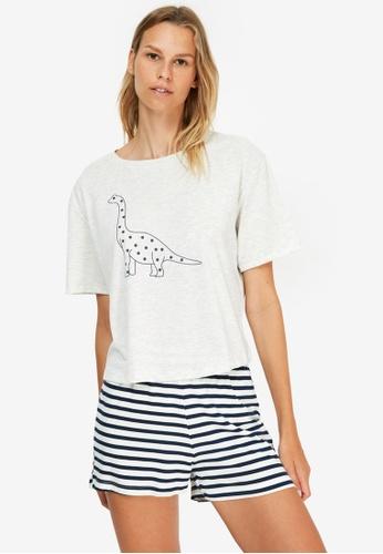 Trendyol grey Print Pyjama Set F77A4AADEBBF1AGS_1