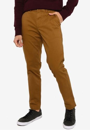 GAP brown Slim Fit Khaki Trousers 3D70EAAF96A862GS_1