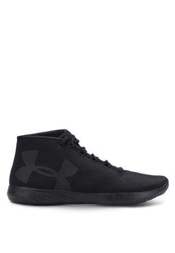 Under Armour black UA Street Precision Mid Shoes UN337SH0S39WMY_1