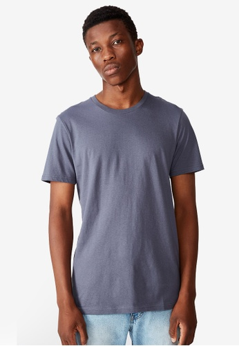 Cotton On grey and blue Essential Crew Tee 4B8D3AA5062EC1GS_1
