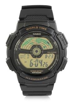 harga Casio Round Watch Illuminator Digital Ae-1100W-1B Zalora.co.id