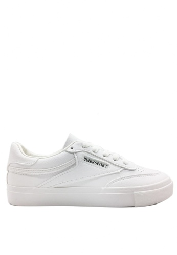 Twenty Eight Shoes white Speed Lace Up Sneakers 6807 01FFDSH0F6409EGS_1