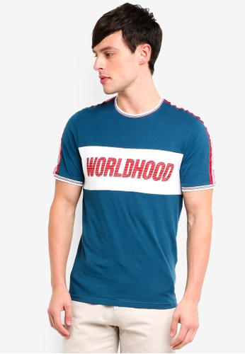Only & Sons 藍色 品牌刺繡T恤 A2727AA8C339FCGS_1