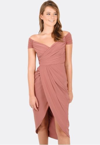 FORCAST pink Marissa Gathered Dress 3BBD0AA1002A41GS_1