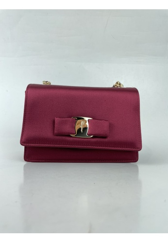 Salvatore Ferragamo red PRE-LOVED SALVATORE FERRAGAMO MINI VARA CROSSBODY BAG BC987ACE0F34EAGS_1