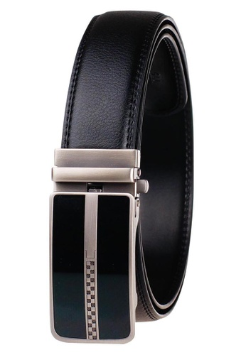 FANYU black Leather Dress Belt With Automatic Buckle belt 55DC8AC0FE583BGS_1