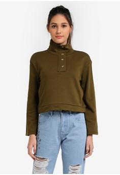 【ZALORA】 Oversized Mock Neck Pullover