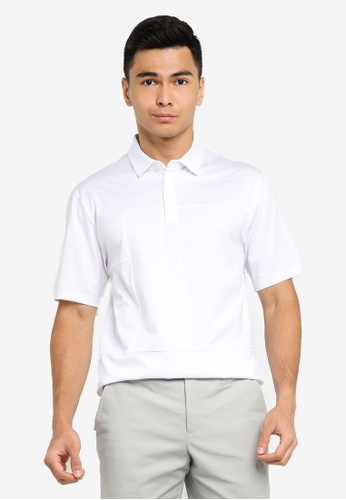 ck Calvin Klein white DOUBLE MERCERISED COTTON POLO SHIRT CE37FAA3182644GS_1