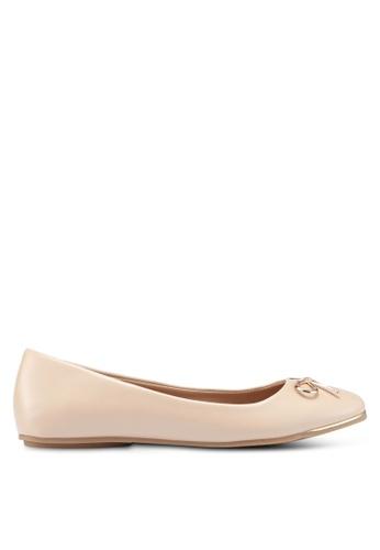 Bata 米褐色 蝴蝶結平底鞋 555B7SH85CCFC6GS_1