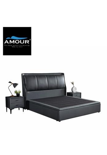 AMOUR AMOUR Premium PU leather Storage Bed 366A6HL0E5BAEBGS_1