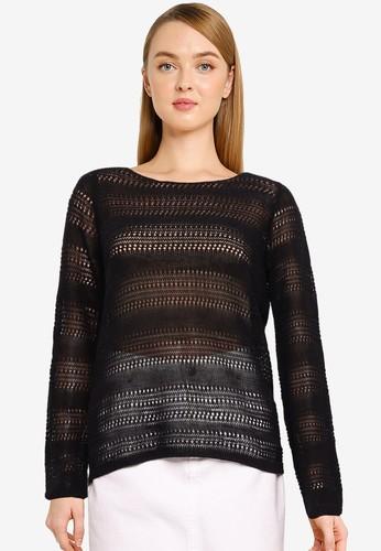 Vero Moda black Knitted Long Sleeve Top C0FA9AA8AFF286GS_1