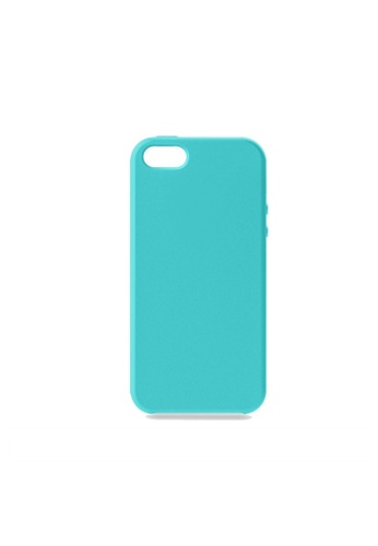 MobileHub blue iPhone 5 / 5s / SE Silicone Cover Soft Case Rubberized Finish (Teal Blue) A306CAC80BE714GS_1