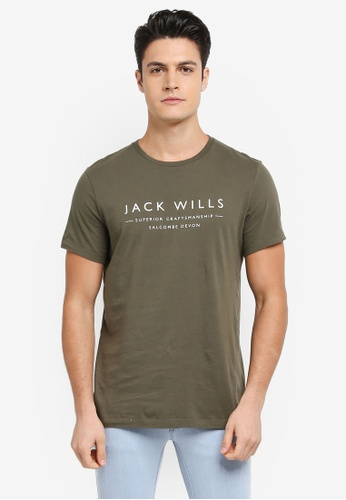 Jack Wills green Westmore Graphic T-shirt CCCBEAA8FCFB3AGS_1