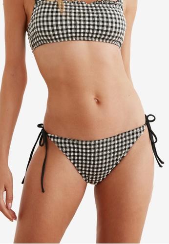 Trendyol black Plaid Bikini Bottom 39DC5US77C46B7GS_1