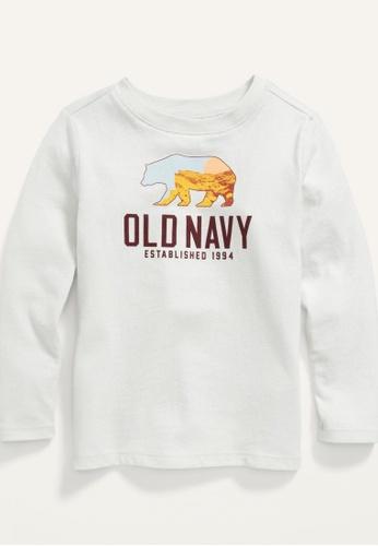 Old Navy white Toddler Boys Long-Sleeve Logo-Graphic Tee 90804KA5714E68GS_1