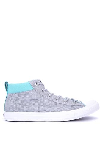 Converse grey Chuck Taylor All Star Street Nylon Sneakers 26D52SH9E16BFAGS_1