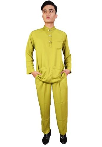 Denai Boutique green Baju Melayu Iman FCFE7AA96C758BGS_1