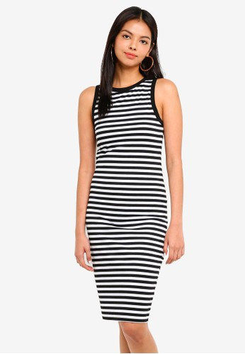 Cotton On black and white Lena Midi Dress 631D5AAC1DBC74GS_1