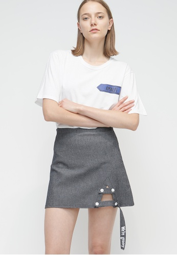 OUTSTANDING ORDINARY navy Tri Skirt OU203AA74CAJSG_1