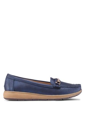 Noveni 海軍藍色 金屬飾樂福鞋 8F774SH3CB25A8GS_1