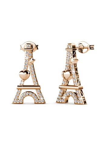 Her Jewellery Swarovski® Crystals -Paris Love Earrings (Rose Gold) (18K Rose Gold Plated) Her Jewellery HE581AC0RVSGMY_1