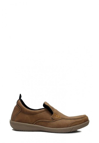 D-Island brown D-Island Shoes Slip On Driving Comfort Leather Soft Brown EE027SH8EE1680GS_1