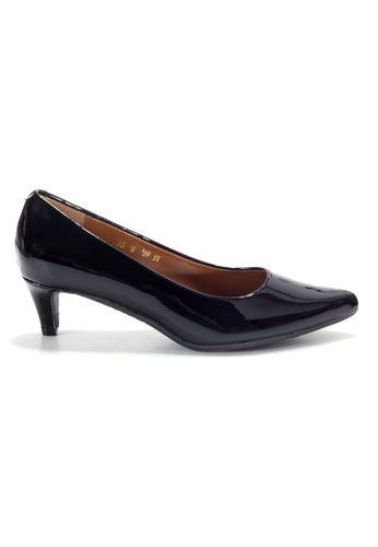 Shu Talk black LeccaLecca Patent Leather Pointy Heels 5D2D1SHBE1421AGS_1