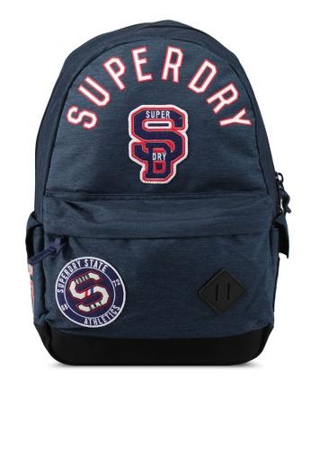 Superdry navy Stadium Montana Backpack SU137AC0SLMBMY_1
