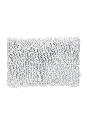 Charles Millen white Charles Millen 100% Microfibre Moppy Bath Mat With Sbr Antislip Backing 50 x 80cm /800g. EEE32HL3301FB4GS_1