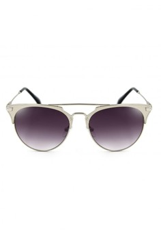 Eleanor Vintage Fashion Metal Browline Sunglasses 8011-14-Y