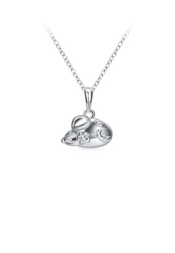 Glamorousky silver Fashion Elegant Twelve Zodiac Mouse Pendant with Necklace 27EA4AC701AB6CGS_1