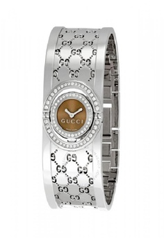 672505ae5f6 Gucci silver GUCCI 112 Twirl 2 Row Diamond Steel Bangle Ladies Watch  CBA74ACD0C19EEGS 1