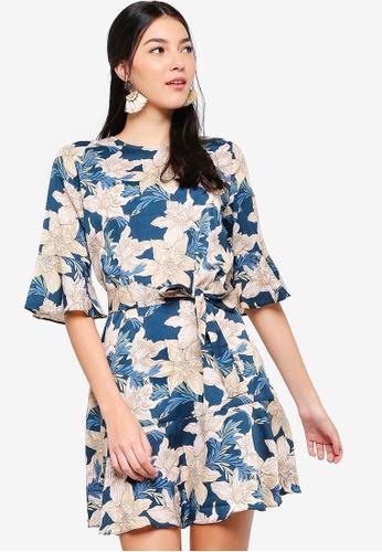 ZALORA multi Ruffles Hem Dress 4E8D3AA9300925GS_1