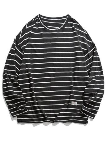 Twenty Eight Shoes Loose Contrast Stripe Long T-shirt HH9676 D7F9EAA611D7FAGS_1