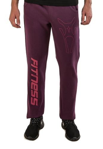 AMNIG purple Amnig Sports Fitness Sweatpants (Purple) AM133AA47SIIMY_1