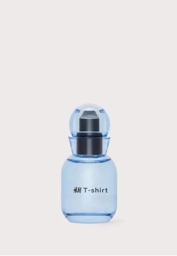 H&M blue Eau De Toilette T-shirt A2CA4BEEA2CF16GS_1