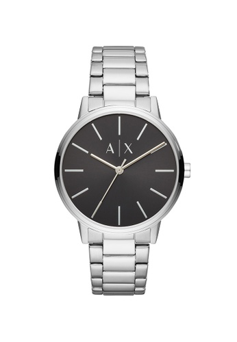 Armani Exchange black and silver Cayde Silver Stainless Steel Watch AX2700 1DB81ACE65681BGS_1