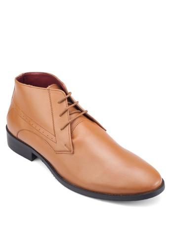 雕esprit 中文花低筒皮鞋, 鞋, 靴子