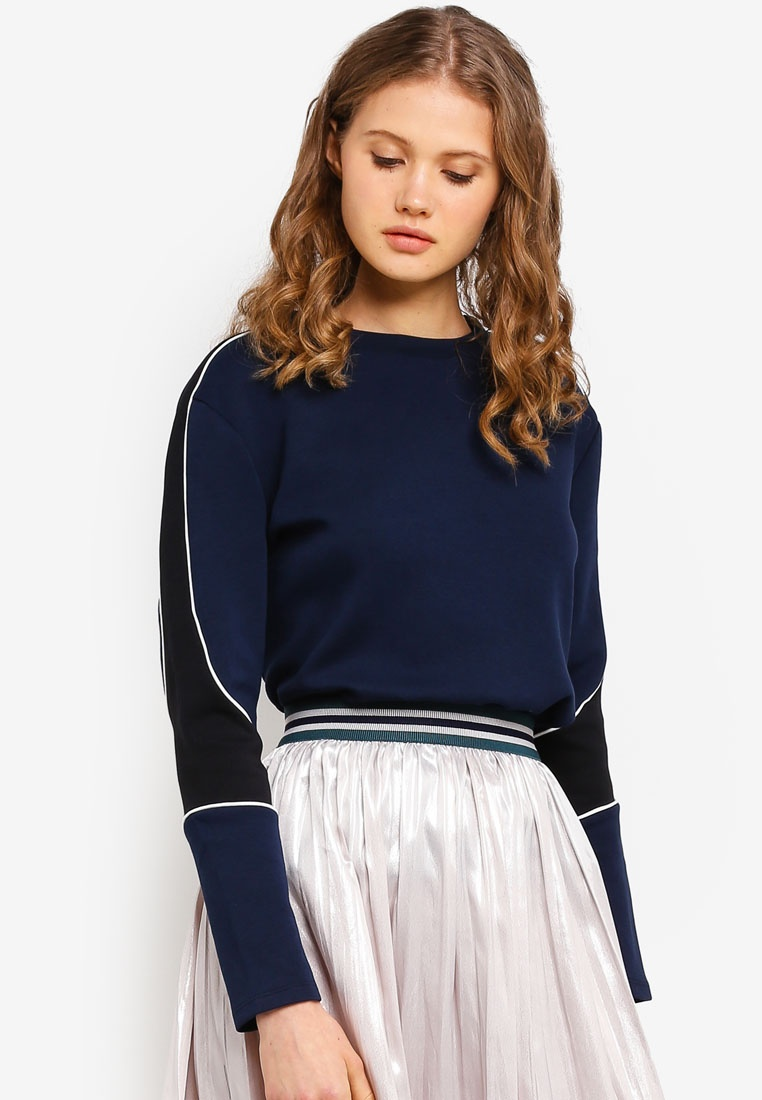 Sleeve ESPRIT Sweatshirt Long Long ESPRIT Sleeve Sweatshirt Navy 1TTvwnq4Fx