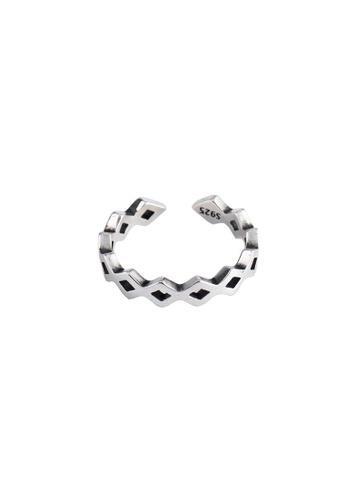OrBeing white Premium S925 Sliver Geometric Ring 61536AC6896928GS_1